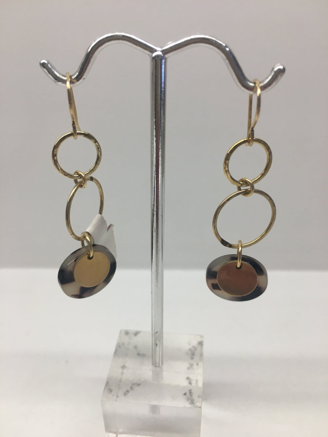 Tortoise Circles and Circles - Earrings