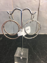 Load image into Gallery viewer, Medium Hammered Circle & Bubble Circle Inside Earrings