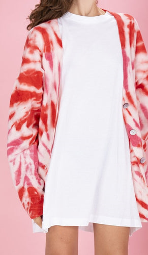 CRUSH - Canggu Tie Dye Oversized Cardi Sweater