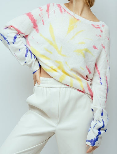 CRUSH - Chan Chan Tie Dye Sweater in Neon Multi