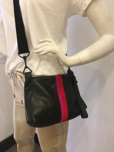 Nancy Wristlet/Crossbody Handbag - Black Perf