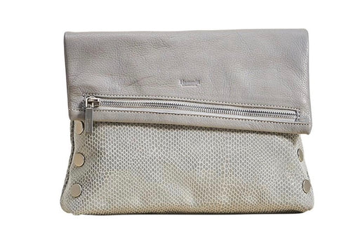 Hammitt VIP - Medium, Marble Grey, Brushed Silver Rivets