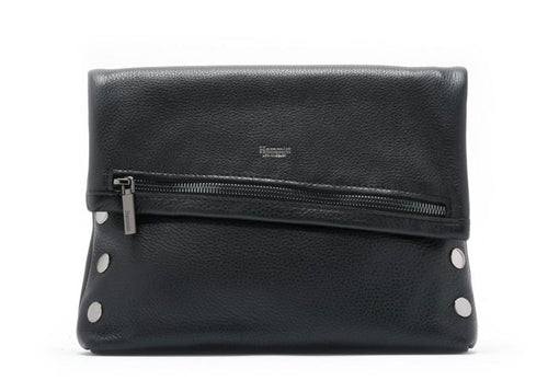 Hammitt VIP - Medium, Black Leather, Gunmetal Rivets