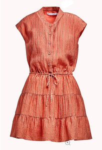 Ollie Dress - Peach Check
