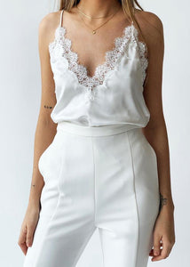The Everly Cami White
