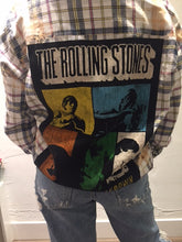 Load image into Gallery viewer, Upcycle Envy - Vintage Flannel - Rolling Stones Shacket