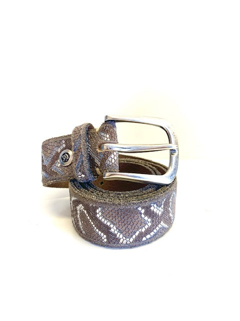 B. Belt - Taupe and Silver Snake Belt/Silver Buckle