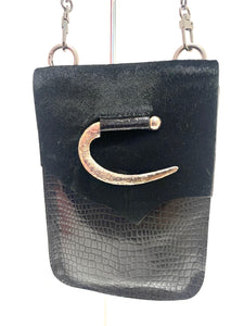 Evoke - Paulina Bag Black/Pony hair/Hook