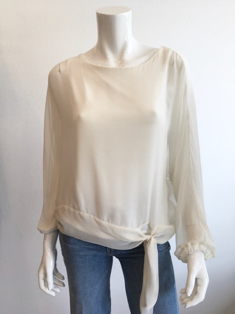 Front Tie Chiffon Top