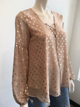 Load image into Gallery viewer, Long Sleeve Gold Foil Dot Blouse