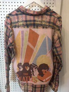 Upcycle Envy - Vintage Flannel - The Beatles