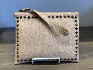 Studded Wristlet Pouch