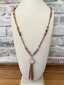 Macrame Button Necklace