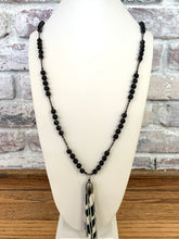 Load image into Gallery viewer, Zebra Tassel Necklace