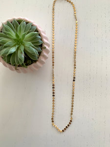Disk Chain Layering Necklace