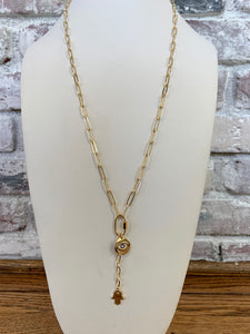 Long Y Link Chain Necklace