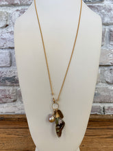Load image into Gallery viewer, Long Necklace With a Butterfly Wing Charm