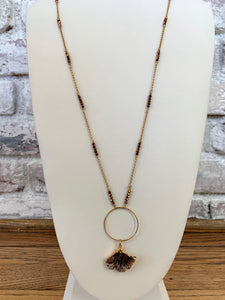Long Necklace With a Stone Charm