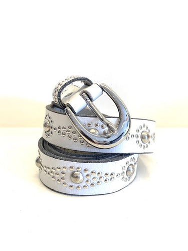 Narrow Studded B. Belt