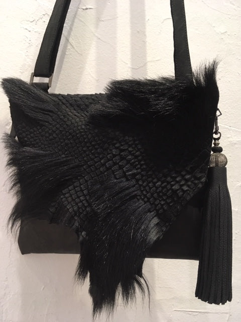 Evoke Women - Cara Leather & Fur Bag