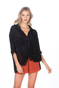 Maven - Cargo Pocket Tie Front Top