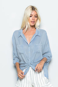 Maven West - Cargo Pocket Tie Front Top