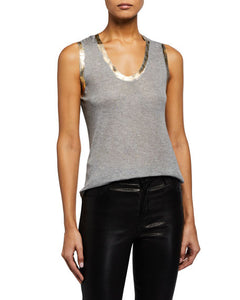 Tam Scoop-Neck Foil Tank