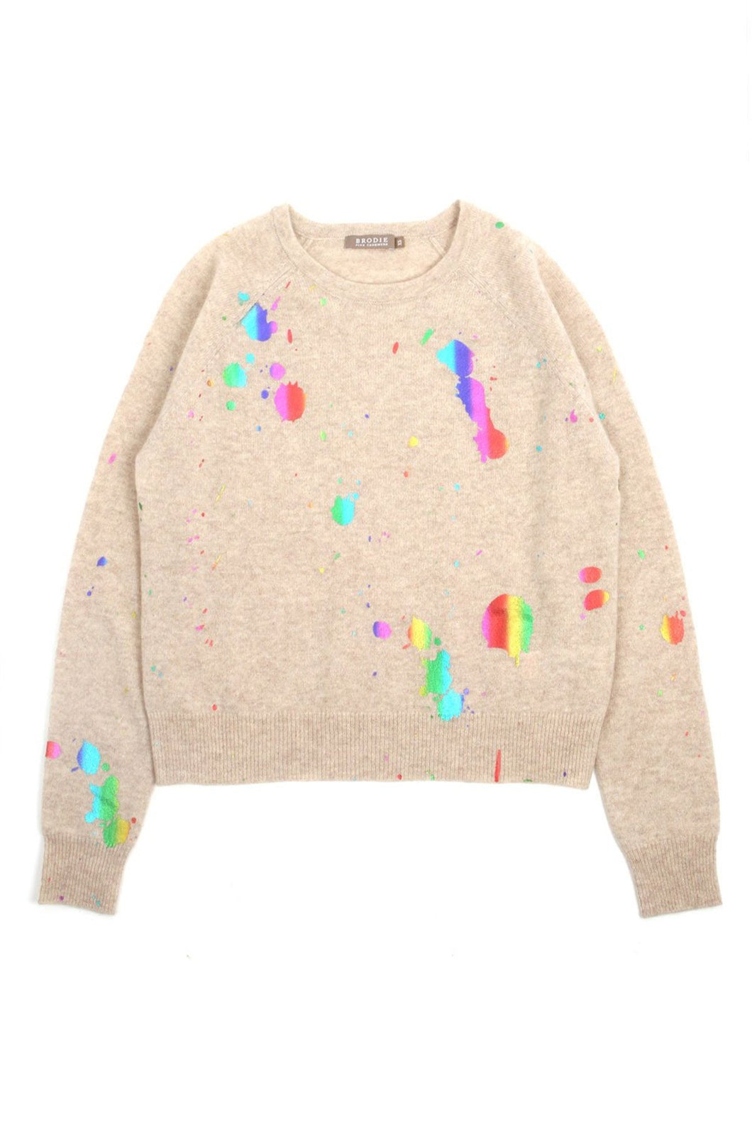 Brodie - Rainbow Foil Cashmere Sweater
