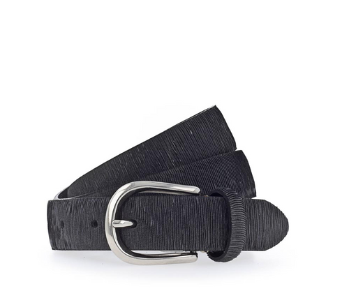 B.Belt Cuna Skinny Metallic Belt Black