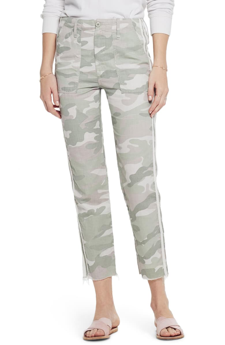 Mother Shaker Chop Crop Fray - Desert Print