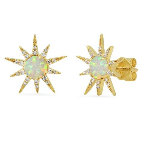 Opal Sunburst Earrings