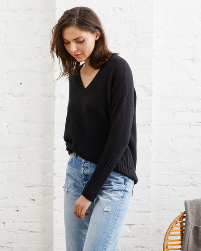 Not Monday Ella V-Neck Cashmere Sweater