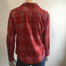 Load image into Gallery viewer, Velvet- L/S Button Up Plaid Top Blouse