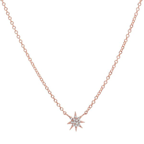 Mini Starburst Necklace - Rose Gold