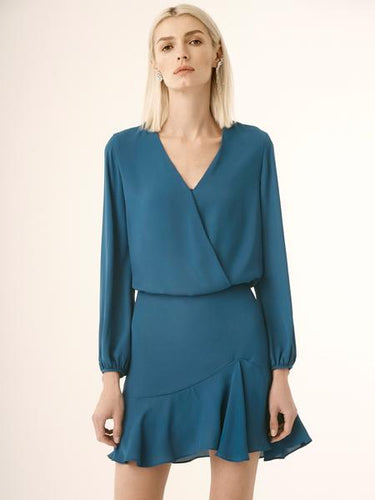 L/S SURPLICE DRESS - Krisa