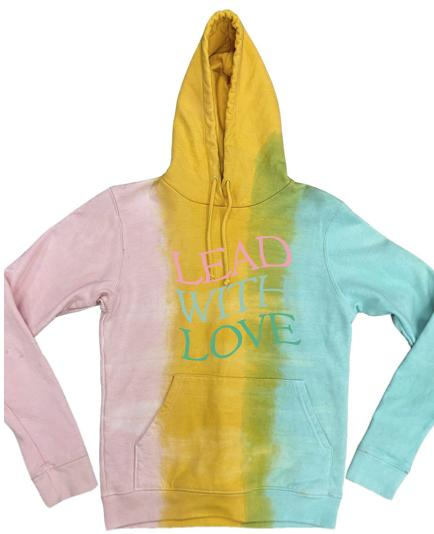 Long Sleeve Fleece Hooded Sweatshirt-Lead With Love