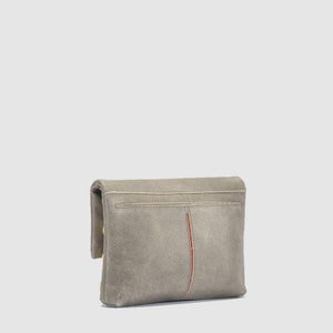 Hammitt - VIP Small Clutch, Pewter/Brushed Gold Red Zipper