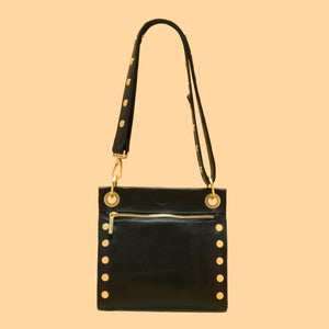 Hammitt Medium Tony Crossbody Bag - Black Brushed Gold
