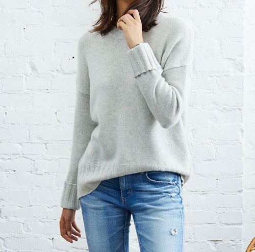 Not Monday- Mila Cashmere Crewneck Sweater