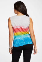 Load image into Gallery viewer, Chaser Gauzy Cotton Muscle Tank - Tie Dye