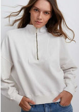 Load image into Gallery viewer, Velvet by Graham & Spencer - Nilly Mock Neck Zip Sweatshirt