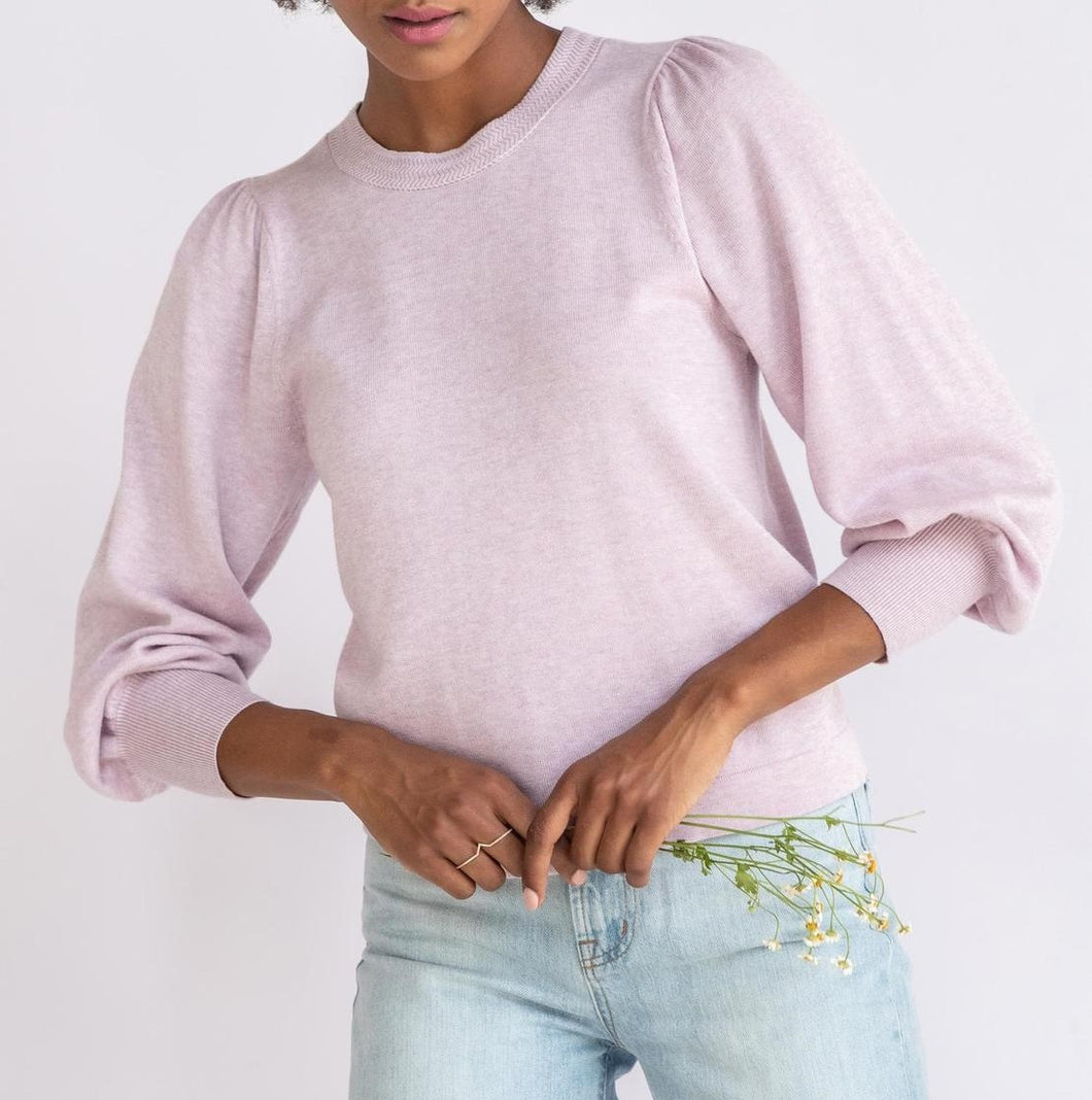 Lilla P - Puff Sleeve Crewneck Sweater