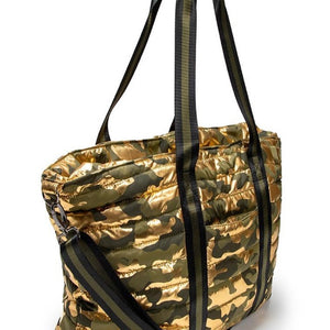 Think Royln Shinny Gold Wingman Bag