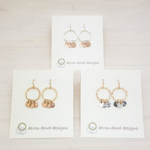 Small Circles with Discs - Earrings