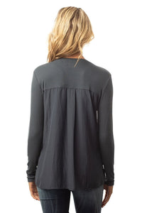 Lola & Sophie - L/S Rib V-Neck Top