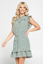 Load image into Gallery viewer, Pinch Multi Ruffle Dress - Mint Floral