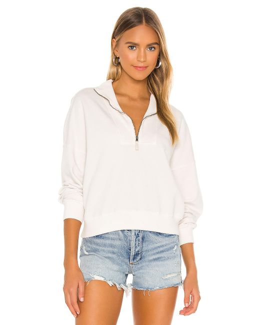 Velvet by Graham & Spencer - Nilly Mock Neck Zip Sweatshirt