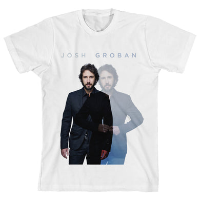 Josh Groban White Ghosted Unisex Tee