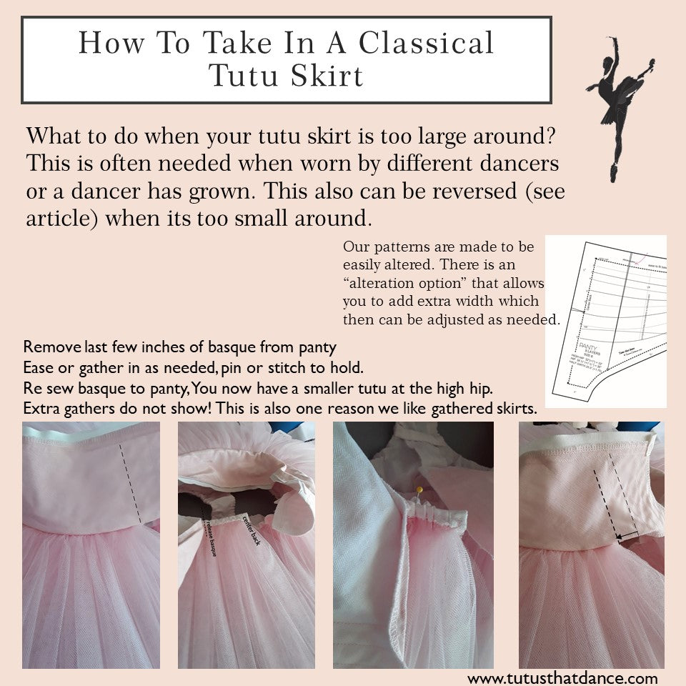 How to take in a tutu skirt