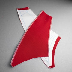 Flat lining panels for bodice